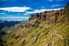 Paisagem com as montanhas perto da vila de Masca Imagens de Stock Royalty Free
