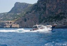 Paisagem com barco Foto de Stock Royalty Free
