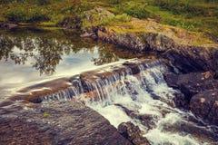 Paisagem com a cachoeira bonita Fotos de Stock