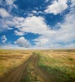 Paisagem com campo e o céu Imagem de Stock