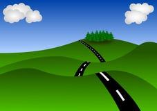 Paisagem com estrada Fotografia de Stock