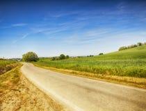 Paisagem com estrada Fotos de Stock Royalty Free
