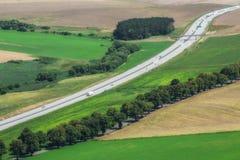 Paisagem com estrada Imagens de Stock Royalty Free