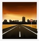 Paisagem com estrada Imagem de Stock