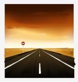 Paisagem com estrada Foto de Stock