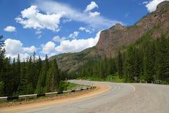 Paisagem com estrada da montanha Imagens de Stock Royalty Free