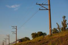 Paisagem com estrada de ferro Foto de Stock