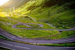 Paisagem com estrada do serpantine Imagens de Stock