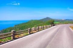 Paisagem com estrada e as árvores vazias Imagem de Stock Royalty Free