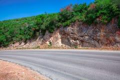 Paisagem com estrada e as árvores vazias Imagem de Stock
