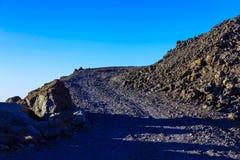 Paisagem com a estrada na ilha de Tenerife Fotos de Stock Royalty Free