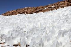 Paisagem com estruturas da neve Fotos de Stock