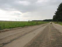 Paisagem com grama verde, estrada Imagem de Stock Royalty Free