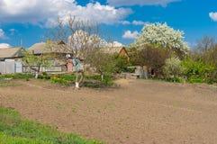 Paisagem com jardins da mola Imagem de Stock