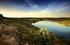 Paisagem com lago Imagem de Stock