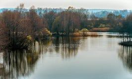 Paisagem com lago Foto de Stock