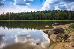 Paisagem com lago Imagem de Stock Royalty Free