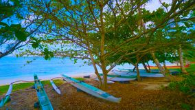 Paisagem com lago e árvores    barco na praia 2019 fotos de stock