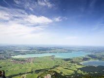 Paisagem com lago Forggensee Baviera Fotografia de Stock