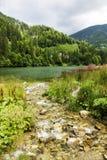 Paisagem com lago Galbenu em Romênia Imagem de Stock Royalty Free