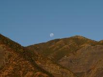 Paisagem com a lua, Nova Zelândia Imagem de Stock Royalty Free