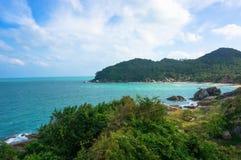 Paisagem com mar azul Fotos de Stock Royalty Free