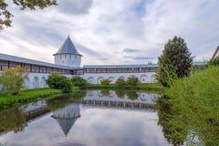 Paisagem com monastério de Spaso-Prilutsky, Vologda, Rússia Fotografia de Stock Royalty Free