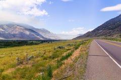 Paisagem com montanhas Foto de Stock