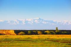 Paisagem com montanhas, Cazaquistão Fotografia de Stock Royalty Free