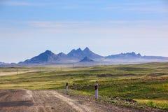 Paisagem com montanhas, Cazaquistão Foto de Stock