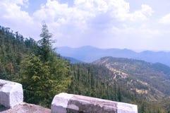 Paisagem com montanhas e árvores Fotos de Stock Royalty Free