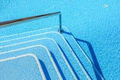 Paisagem com ninguém piscina no hotel de luxo Fotografia de Stock