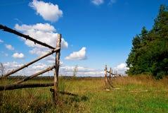 Paisagem com nuvens Imagem de Stock