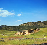 Paisagem com o anfiteatro antigo em Turquia Imagem de Stock Royalty Free