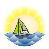 Paisagem com o mar azul Imagem de Stock