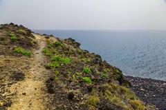 Paisagem com o passeio na ilha de Tenerife Fotografia de Stock Royalty Free