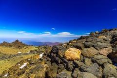 Paisagem com o passeio na ilha de Tenerife Fotos de Stock Royalty Free