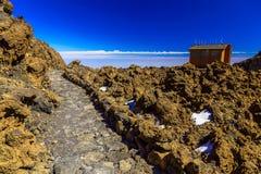Paisagem com o passeio na ilha de Tenerife Foto de Stock