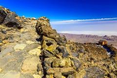 Paisagem com o passeio na ilha de Tenerife Foto de Stock Royalty Free