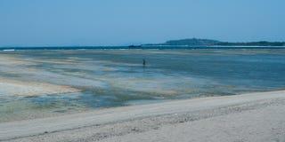 Paisagem com opiniões do mar Foto de Stock Royalty Free