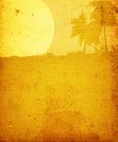 Paisagem com palma-árvores ilustração royalty free