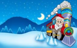 Paisagem com Papai Noel 7 Imagens de Stock