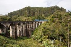 Paisagem com a ponte de nove arcos Foto de Stock Royalty Free