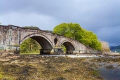 Paisagem com ponte e rio Foto de Stock Royalty Free