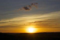 Paisagem com por do sol Fotografia de Stock
