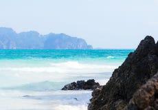 Paisagem com praia branca Foto de Stock Royalty Free