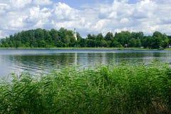 Paisagem com reflexão na água Fotos de Stock Royalty Free