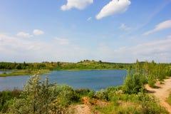 Paisagem com rio Foto de Stock Royalty Free