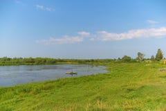 Paisagem com rio Fotografia de Stock