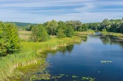 Paisagem com rio de Vorskla Imagens de Stock Royalty Free